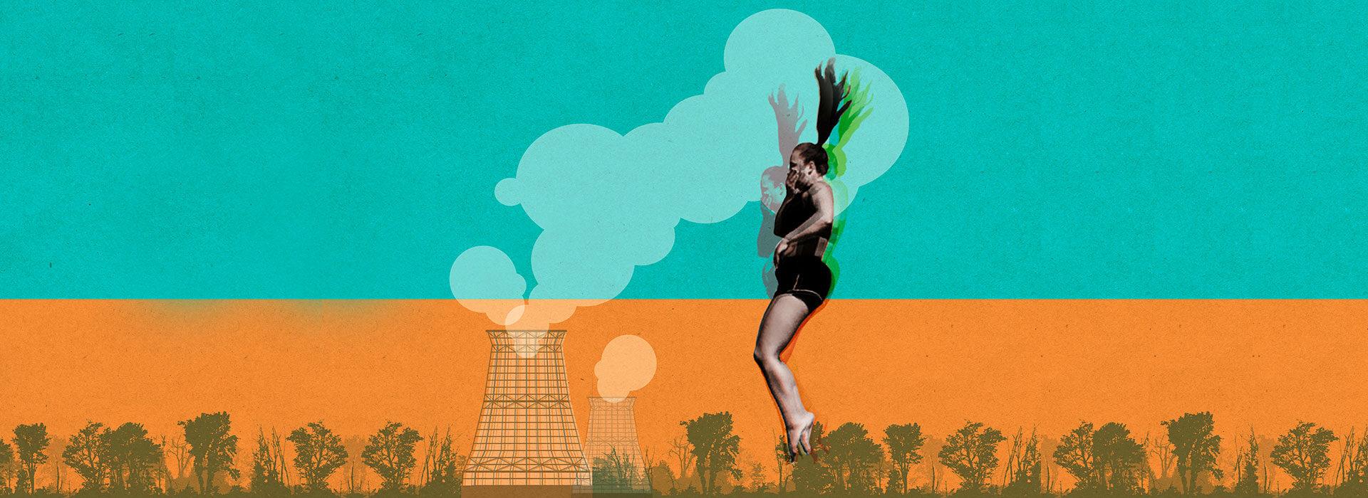 Foto: Keyvisual des Filmfestivals blicke 28 mit Springerin von Holger Mohaupt